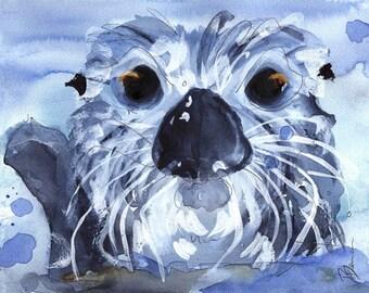 Sea Otter Art Print, 12 x 16 Wildlife Print