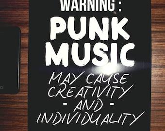 Punk Music Poster (Size A4)