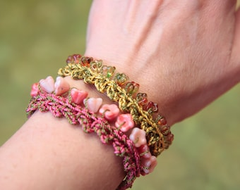 Crochet Jewelry Pattern, Crochet Bracelet Pattern, Bead Crochet Tutorial (52)