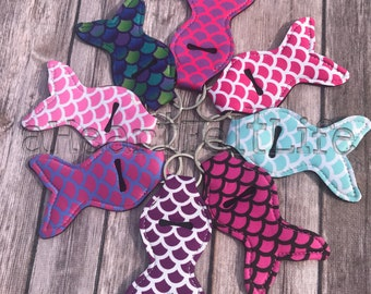 Mermaid Chapstick Holder | Chapstick Keychain | Lip Balm Holder | Personalized | Monogram | Class Gift | Party Favors | Teacher Gift