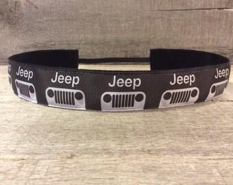 Black Jeep Nonslip Headband, Noslip Headband, Workout Headband, Sports Headband, Running Headband, Athletic Headband