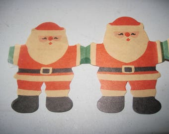 Vintage paper Christmas Santa tissue garland