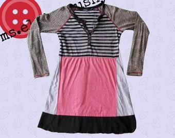 Artsy Tunic, Womens Clothing, Womens Upcycled Dress, Upcycled Tunic, Upcycled Shirt, Black and Red, Funky, Lagenlook, Artsy Dress, Eco