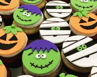 Halloween Theme Cupcake Topper