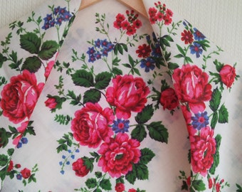 Festival Pavlovo Posad shawl, beautiful russian shawl, Russian Beauty Pavlovo Posad Shawl