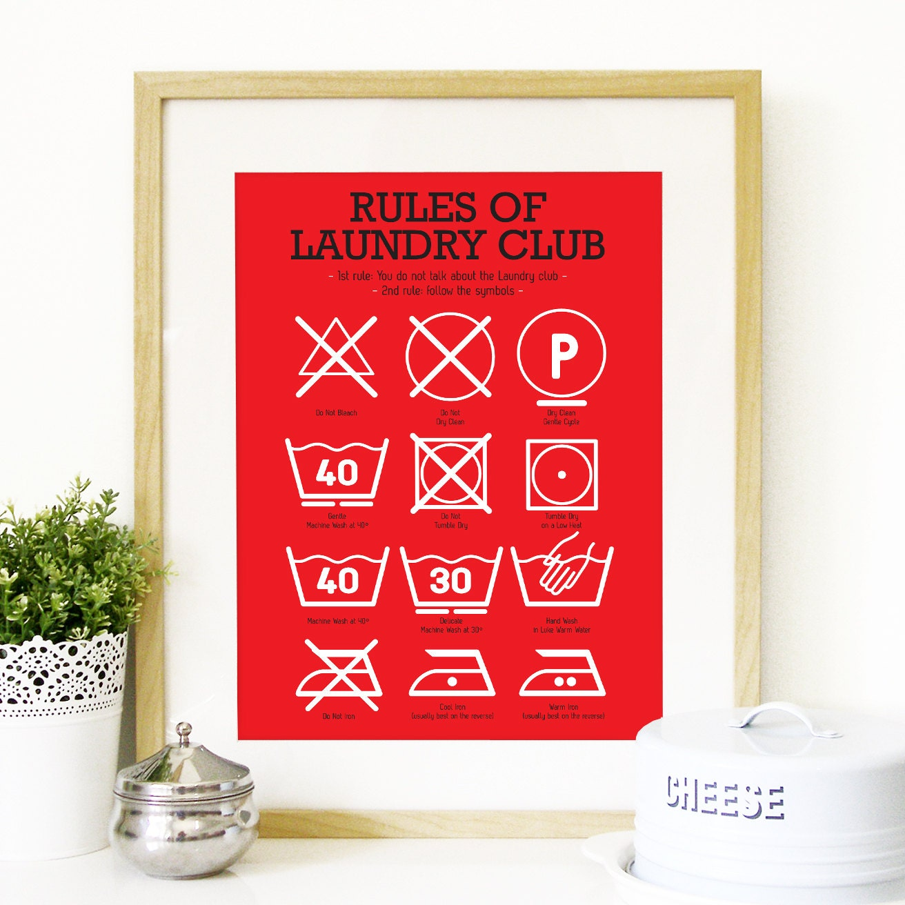 Laundry Symbols Wall Art Kitchen Art Laundry Club Poster Art With Laundry Symbols Mid
