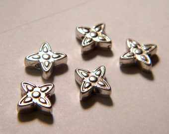 10 Pearl Tibetan silver 7 mm No. 27 spacer flower
