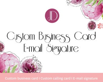 Custom business card - Custom calling card design - E-mail signature card
