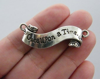 2 Once upon a time connector charms antique silver tone M321