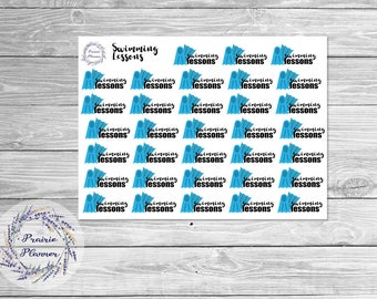 Swimming Lessons - Planner Stickers