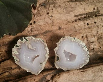 Flame Dance Tabasco Geode Pair #501A