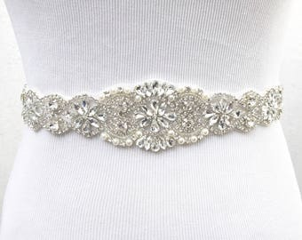 Bridal Sash, Bridal Belt, Wedding Sash, Bridesmaid Belt, Crystal Sash, Rhinestone Belt, Wedding Dress Sash, Wedding Dress Belt, style 78
