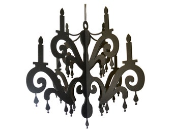 Chandelier with Jewels - Elegant Black Home & Party Decor