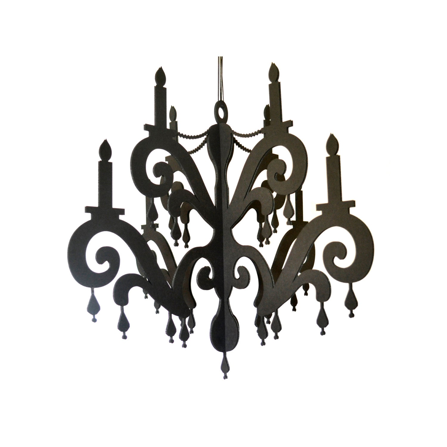 Chandelier with jewels elegant black home party decor zoom arubaitofo Gallery