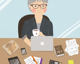 Custom Portrait / Custom Drawing  / Personalized Illustration / Birthday gift / Retirement Gift