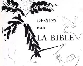 Marc Chagall Original Lithograph Hand Signed Title Dessins Pour La Bible 1960