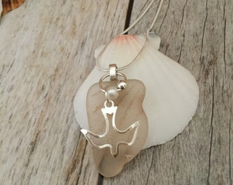 Inspirational Sea Glass Necklace