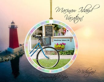 MICHIGAN Medallion - Great Gift - Michigan Keepsake Pendant - MACKINAC ISLAND Memento - Personalization Available - Same Day Shipping