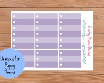 Purple circle Check List Boxes - Planner Stickers - Sticker - Happy Planner - Erin Condren - Planner