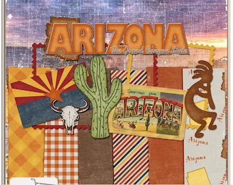 United States Arizona Mini Digital Scrapbook Kit