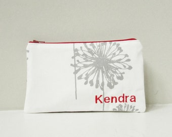 Monogram Makeup bag - Wedding Gift Ideas - Personalized Zipper Pouch - Cosmetic Bag - Bridesmaids GIft -  Teacher, Dance Team Gifts - Medium