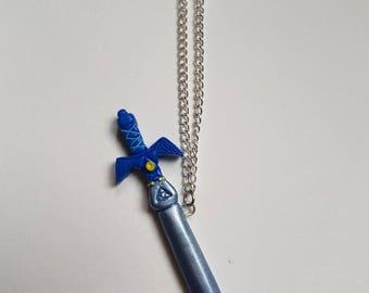 Link in Zelda sword necklace