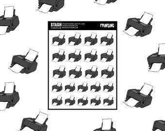 PRINTER - sticker sheet - printing - remember to print - planner stickers