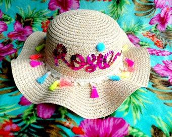 Girls Custom Beach Hat