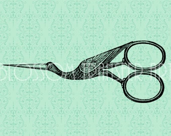 Antique Scissors - Sewing - Digital Images - Download for papercrafts - Iron on transfer - Fabric, burlap, totes - DIY - 1714