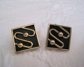 Mid Century Modern Cuff Links Swank Excellent Condition 1950s