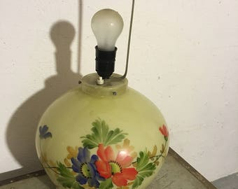 Table lamp stained glass lamp 50 he years stained glass 50's