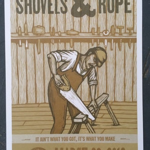 Shovels & Rope Woodcut Poster