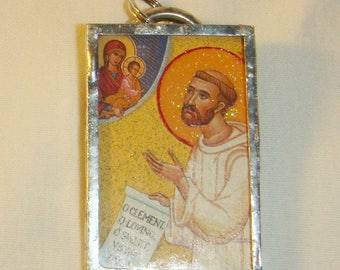 St Bernard of Clairvaux Pendant Patron of Beekeepers inv1664