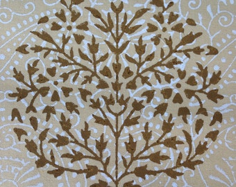 Hand Block Printed Placemats- Beige and Brown