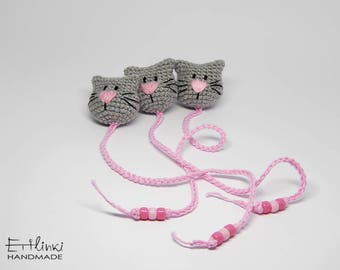 Cat Bookmark For Cat Lover Gift For Book Lover Gift For Cat Mom Book Marks Amigurumi Animals Bookmark For Women Gifts For Her Bookish Items