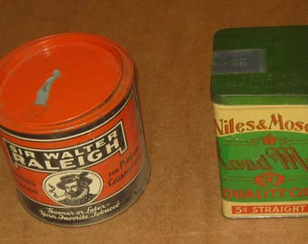 Assorted lot of 2 Tobacco Tins    [geo3587bs]