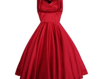 Valentines Dress Red Dress Festive Dress Bridesmaid Dress Prom Dress Pinup Dress 50s Dress Vintage Party Dress Wedding Dress Plus Size Dress