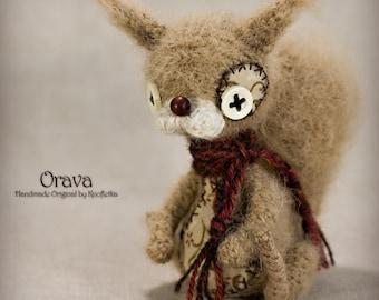 Orava - Original Handmade Little Squirell/Chipmunk/Collectable/Gift/Charm