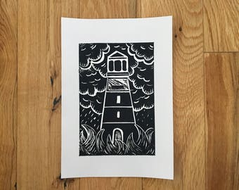 A5 Lighthouse Print