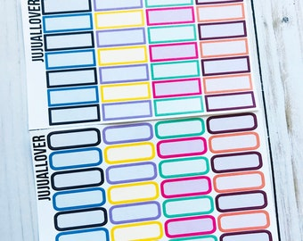 28 COLOR Quarter Boxes Planner Stickers l Functional Stickers l Multicolor Stickers l Multicolor Functional l Summer Colors l
