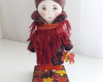 Handmade Rag Doll Autumn interior doll handmade personalized rag Doll cloth Doll Collectible Doll