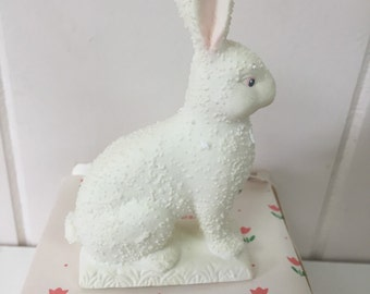 White Rabbit Easter Bunny Porcelain