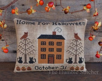 Home For Halloween...Primitive PDF Cross Stitch Pattern By The Humble Stitcher