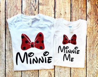 Minnie Me Shirt, Mommy and Me Disney Shirts, Minnie Me, Minnie Shirt, Glitter Minnie, Matching Minnie Family Shirts,