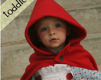 RTS size 3T - Toddler Fleece Little Red Riding Hood Cape/Costume