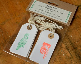 Letterpress Gift Tags - pack of 10