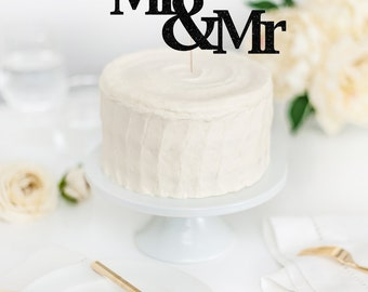 Mr & Mr Cake Topper - Wedding Cake Topper - Two Grooms Cake Topper - Gay Wedding Decor - Custom Cake Topper - Personalized Cake Topper
