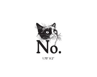 May Sale Grumpy Cat Says No Rubber Stamp 499