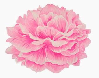 Peony Print, Flower Print, Peony Painting, Fuchsia Flower, Pink Peony, Pink Flower Print, Floral Print, Peony Art, Flower Painting, Floral