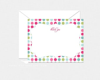 Polka Dot Thank You Cards - Set of 8